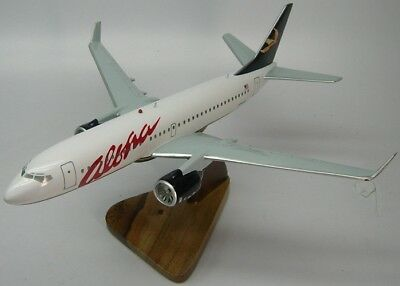 Boeing B-737 Aloha Airlines B737 Airplane Desktop Kiln Dried Wood Model Regular