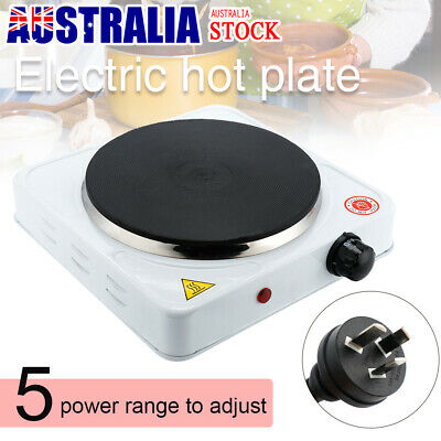 Portable Electric Cooktop Cooker Single Hotplate Home Kitchen Hot Plate White