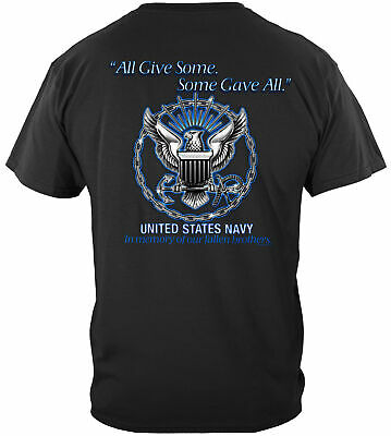 Erazor Bits T-Shirt US Navy All Gave Some Some Gave All Black