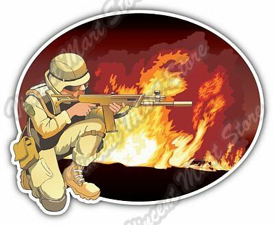 "Taught Soldier Veteran Army Military Napalm Car Bumper Vinyl Sticker Decal 4""X5"""