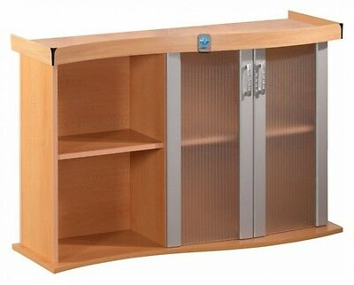 ACU996 Aquarium Unterschrank MODERN 120x40x77 WELLE in BUCHE