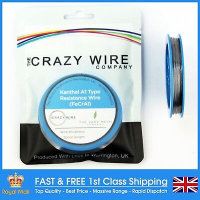 0.42mm (26 AWG) Comp FeCrAl A1 (Kanthal A1 Equiv) Wire - 10.60 ohms/m