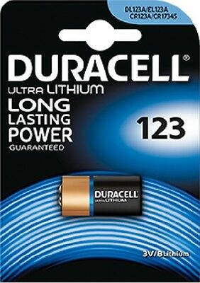 10 Pilas Duracell Cr123 3V Litio Camara 123A Dl123A Cr17345 Elcr123Ap Battery