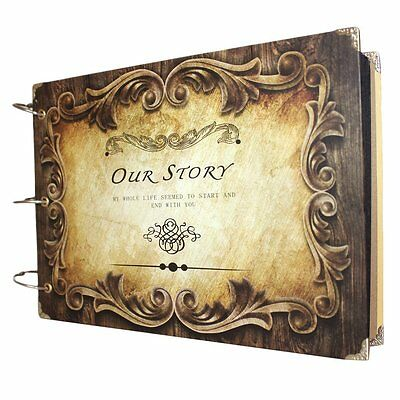 Scrapbook DIY Photo Albums Vintage Style Inner Ring Book Holder for Lovers Gift