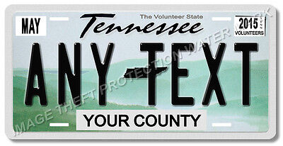 """Tennessee ANY TEXT License Plate Tag New 6"""" x 12"""" Car Pick up Truck Gift Mom Dad"""