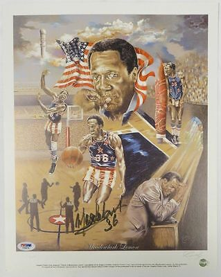 """Tribute to Meadowlark Lemon"" Signed Harlem Globetrotters 12x15 Litho PSA/DNA"