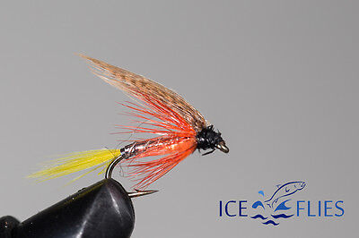 ICE FLIES. Wet flies. Dunkled. Pick a size (4-pack)
