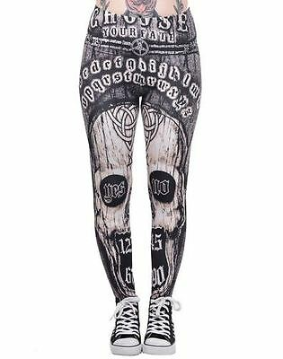 Too Fast Lexy Legging Choose Fate Gothic Punk Rockabilly Pants Goth