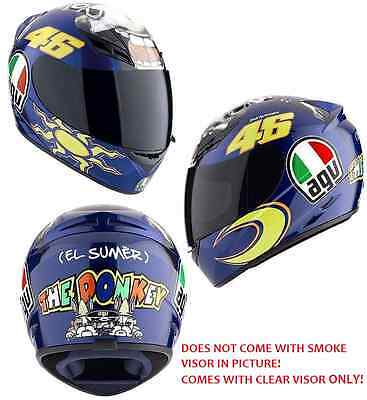 NEW AGV K3 5 The Donkey Full Face Motorcycle Helmet  Valentino Rossi  FREE SHIP