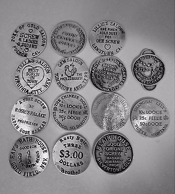 14  Brothel Tokens Special  ( Tokens Of The Old West)