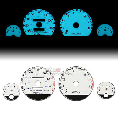 White Indiglo Glow Gauge El Dashboard Cluster For 94-01 Integra Db Gs/rs/ls Mt