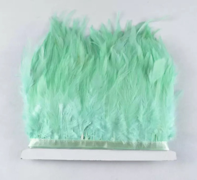 MINT GREEN Rooster Feather Fringe Ribbon Trim Tassel Price for 30cm DIY Craft