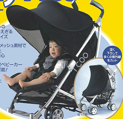 T2 new universal pram sun cover extension solar canopy sleep shade UPF50+ RRP$59