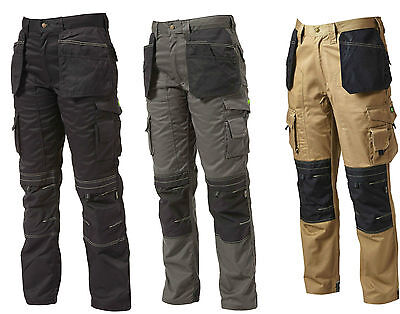 Apache Heavy Duty Cargo Cordura Work Trousers With Kneepad & Holster Pockets