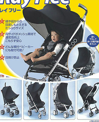 new universal pram sun cover extension solar canopy shade UPF50+ RRP$59
