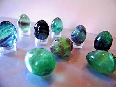 "Polished Fluorite Egg 1""  Increases self confidence wedding favour keep sake"