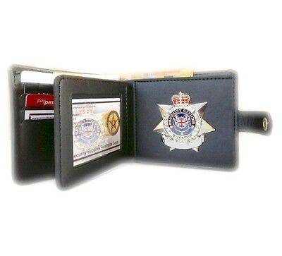 Executive Undercover Badge Wallet, 8 Cards  - Cash Section, ( Stud Closure )
