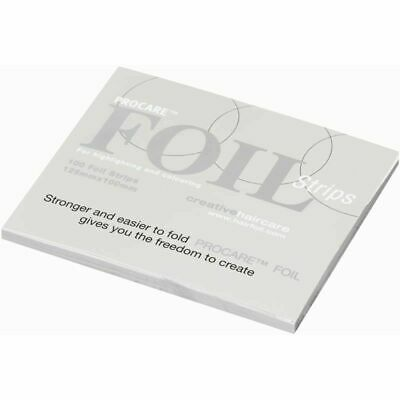 Pro Care Premium Hair Foils Strips - 125 x 100mm with 15mm Fold - Pre Cut