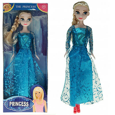 1 x Puppe Prinzessin blond 28 cm Augen Blau Doll Princess Winter Dreams Puppen
