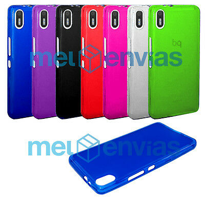 Funda para BQ AQUARIS X5 Gel TPU LISO MATE carcasa trasera flexible Elige color