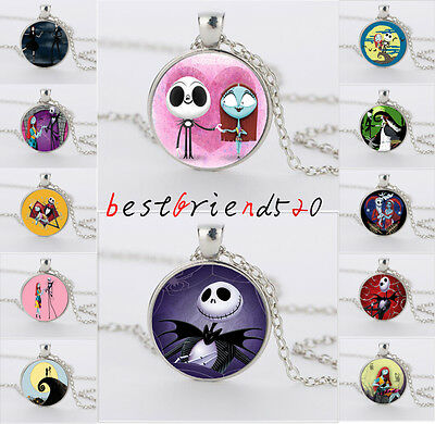 Nightmare Before Christmas jack&sally Silver necklace for women men jewelry gift