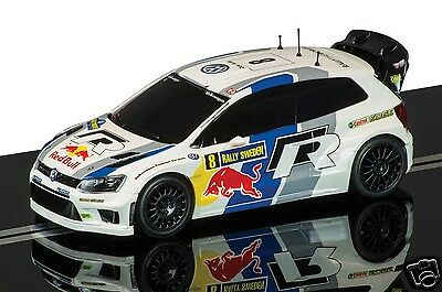 C3525 Scalextric Slot Car 1:32 Volkswagen Polo R WRC No.8 Rally Sweden 2013 New