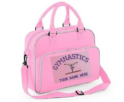 Personalised Gymnastics Holdall Girls Gym Kit Bag Embroidered with Your Name