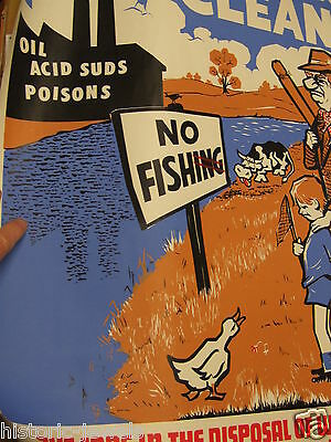 Trent River Authority poster 1970s Rod Shirley