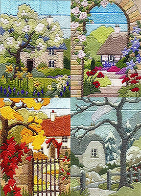 Derwentwater Designs Long Stitch Kit - Seasons, Garden