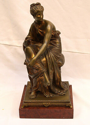 Magnificent 19C French Bronze On Marble By E.h. Dumaige