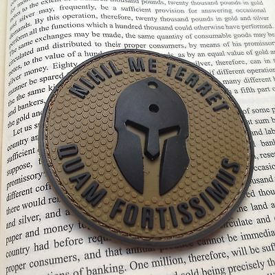 Nothing frightens Me Tactical Morale Airsoft Milspec PVC Rubber PATCH /TAN