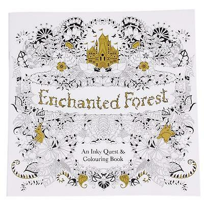 Fashion English Ver. Enchanted Forest: Inky Quest&Coloring Book Antistress YZ