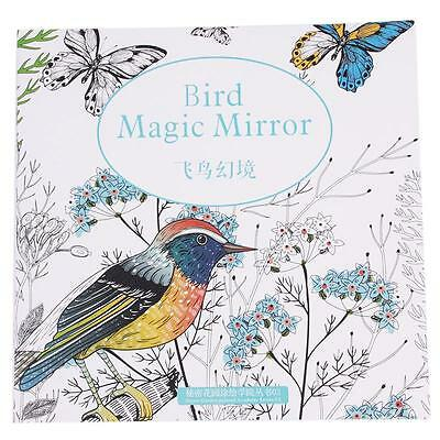 Funny Bird Magic Mirror Painted Coloring Book For Adult Children Great Gift YZ