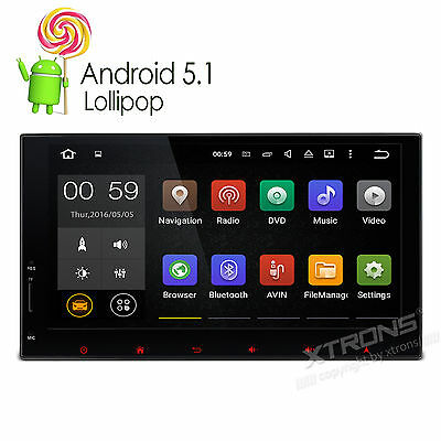 "7"" Android 5.1 Multi-touch Screen 1080P GPS Double Din OBD2 Head Unit Car Stereo"