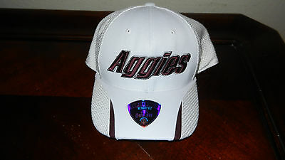 Aggies Texas A&M University White Baseball Cap Hat Mens Med/Large NEW with Tags