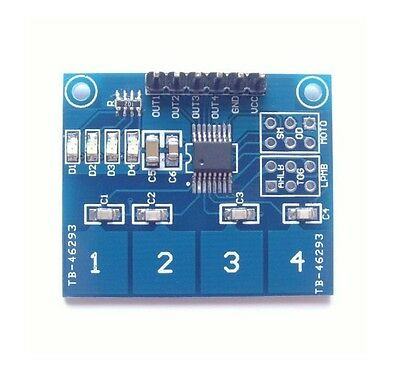 TTP224 4 Channel Digital Touch Sensor Module Capacitive Touch Switch