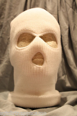 Canadian Forces Style Winter Balaclava 3-Hole White