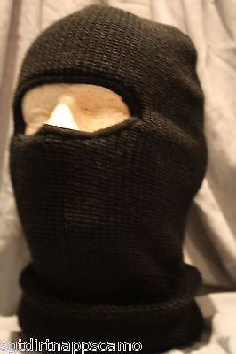 Canadian Forces Winter Black Balaclava 1-Hole