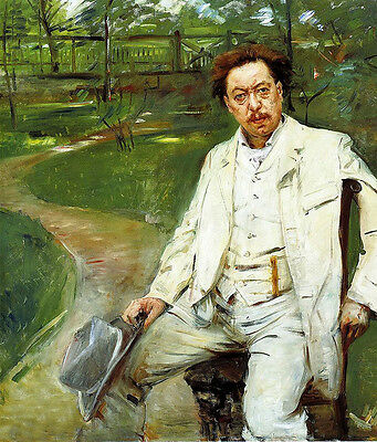 Oil painting lovis corinth portrait of the pianist conrad ansorge in landscape