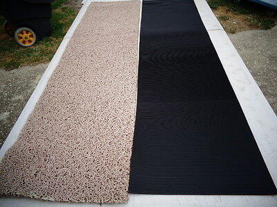 Miners Moss & Ribbed rubber matting 300 x 1200mm Heavy grade 2 piece deal
