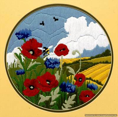 Anchor Long Stitch Kit - Poppies and Cornflower AL77521