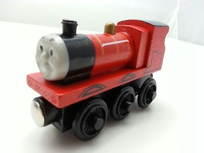 Thomas & Friends No.5 James Magnetic Wooden Toy Train New Loose In Stock