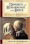 Divorce And Remarriage In The Bible Instone-brewer  David 9780802849434