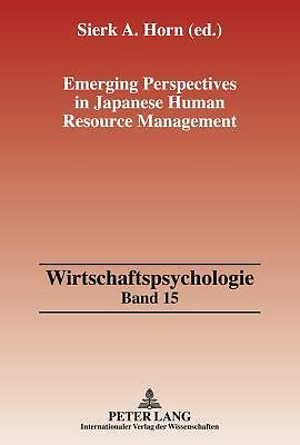 Emerging Perspectives In Japanese Human Resource Management  9783631620984