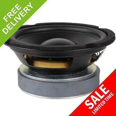 "6.5"" PP Bass Mid Speaker TV AV Replacement Surround Sound Subwoofer Driver 175W"