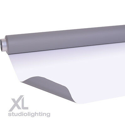 2m x 5m Double Sided Grey+White Photographic Background Vinyl DUO
