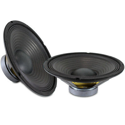 "2x Skytronic 10"" Replacement Components Bass Woofer Speaker Drivers Cones 400W"