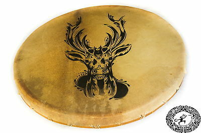 "Shaman Drum 70 cm – ""Forest Deer"""