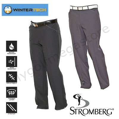 Stromberg Mens Wintra Winter Tech Golf Trousers Water Resistant-Thermal-New