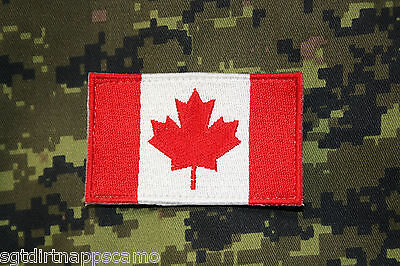 "Canadian Forces Maple Leaf Red & White Flag/ patch 7.5 X 4.5cm / 3"" X 1 ¾"" large"
